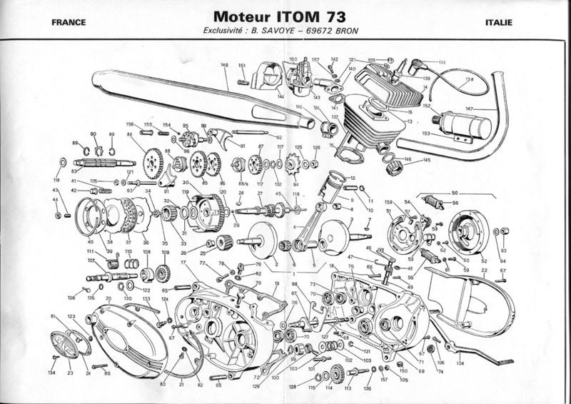 Documents sur Mondial 50cc Franco Morini. Itom-m10