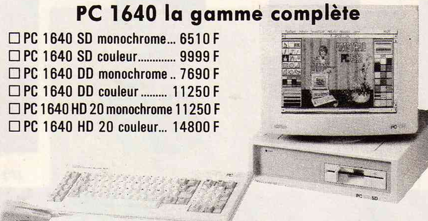 Un Amstrad PC1640 à la place d'un ST/AMIGA ? Amstra11