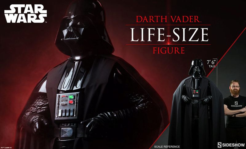 Sideshow Collectibles Darth Vader Life-Size Figure (2017) 1125x610