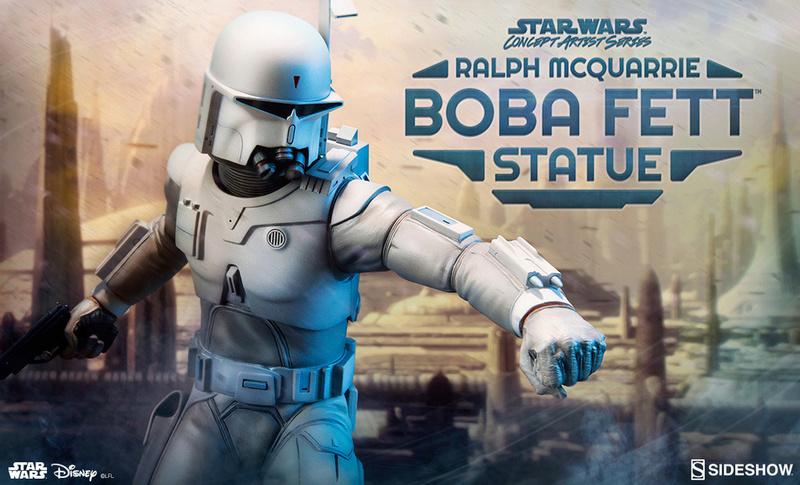 Sideshow Boba Fett Statue Ralph McQuarrie Artist Series  1125x613