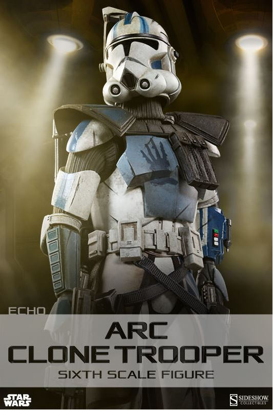 Sideshow Arc Clone Troopers Echo & Fives Sixth Scale Figures Arc-cl11