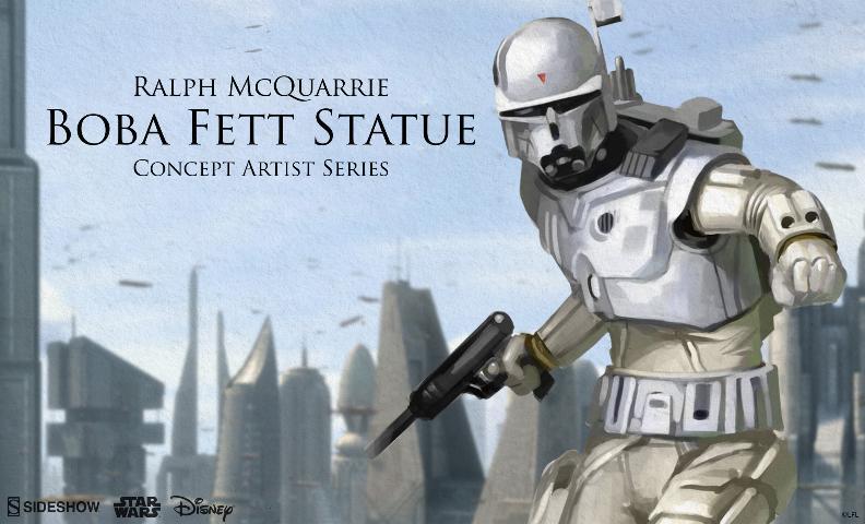 Sideshow Boba Fett Statue Ralph McQuarrie Artist Series  Bobafe55