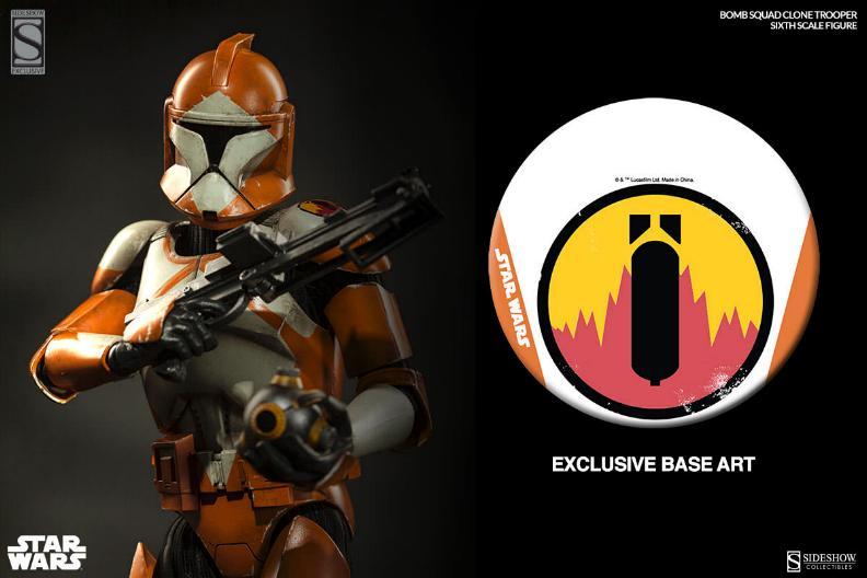 Sideshow - Bomb Squad Clone Trooper Sixth Scale Figure Bomb-s11