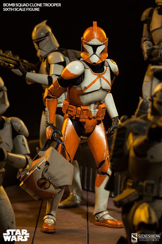 Sideshow - Bomb Squad Clone Trooper Sixth Scale Figure Bomb-s14