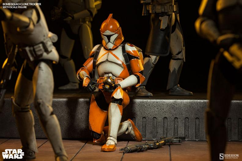 Sideshow - Bomb Squad Clone Trooper Sixth Scale Figure Bomb-s16