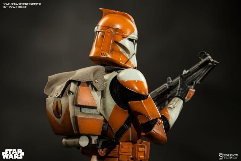 Sideshow - Bomb Squad Clone Trooper Sixth Scale Figure Bomb-s18