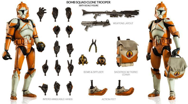 Sideshow - Bomb Squad Clone Trooper Sixth Scale Figure Bomb-s21