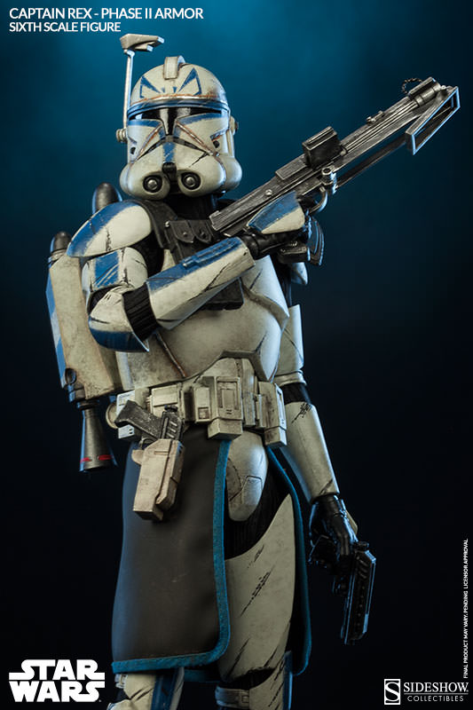 Sideshow - Captain Rex – Phase II Armor Sixth Scale Figure Captai15