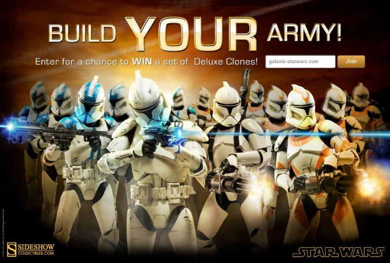 Sideshow - Clones Troopers Deluxe Sixth Scale Figure  Clone110