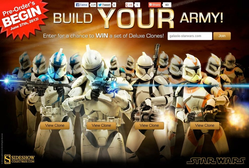 Sideshow - Clones Troopers Deluxe Sixth Scale Figure  Clone111