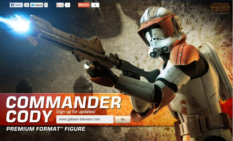 Sideshow Collectible Commander Cody Premium Format  Codypf14