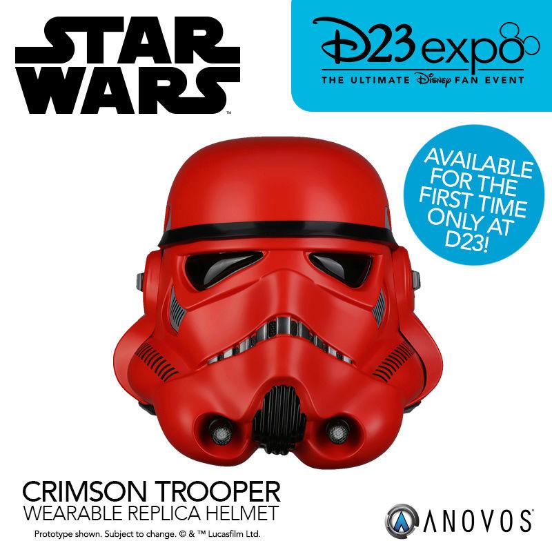 ANOVOS - SDCC 2017 EXCLU Crimson Stormtrooper helmet Crimso10