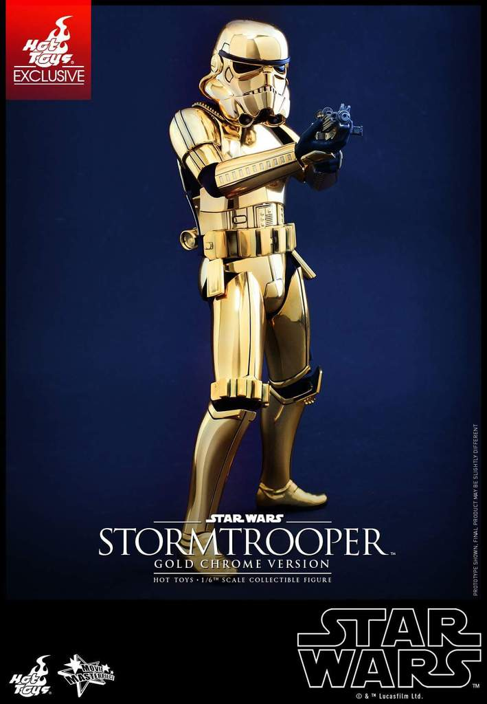 Hot Toys Star Wars 1/6 Scale Gold Stormtrooper Figure Fb_img31