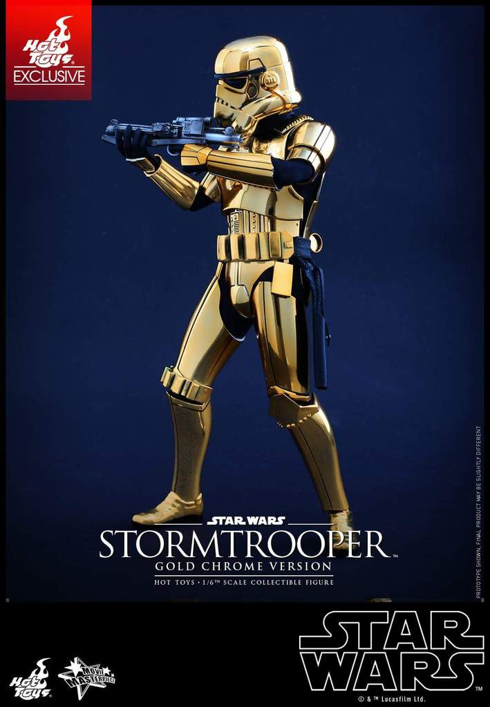 Hot Toys Star Wars 1/6 Scale Gold Stormtrooper Figure Fb_img33