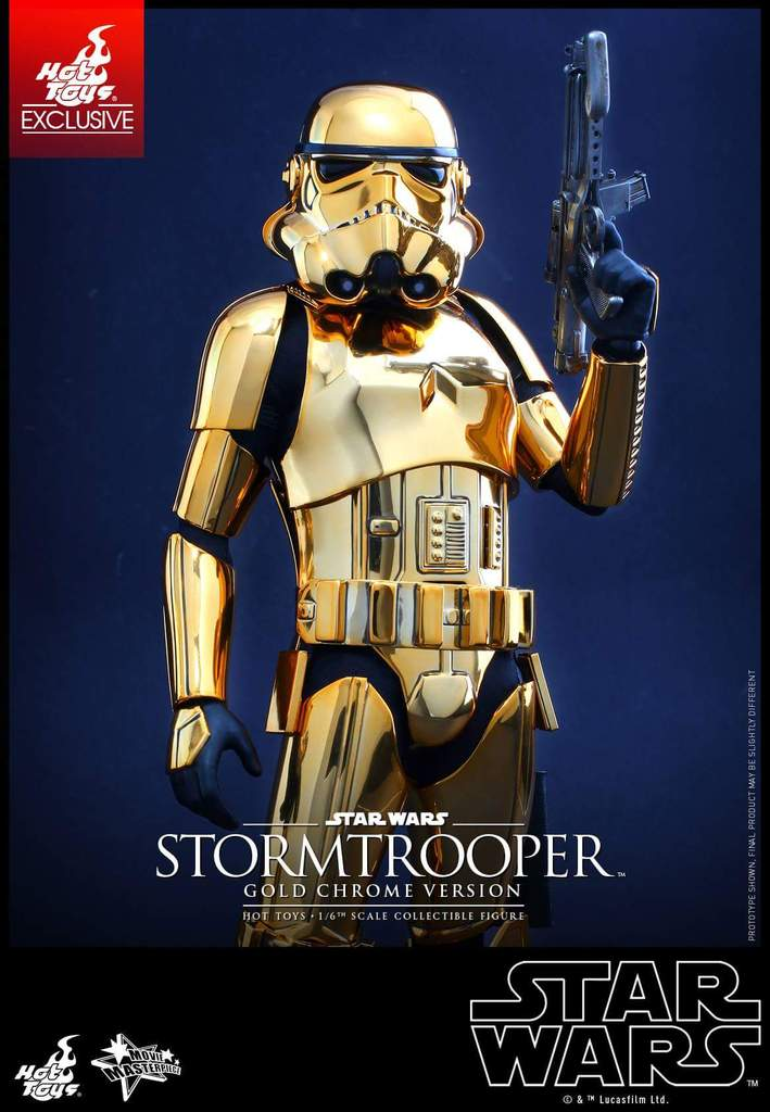 Hot Toys Star Wars 1/6 Scale Gold Stormtrooper Figure Fb_img34