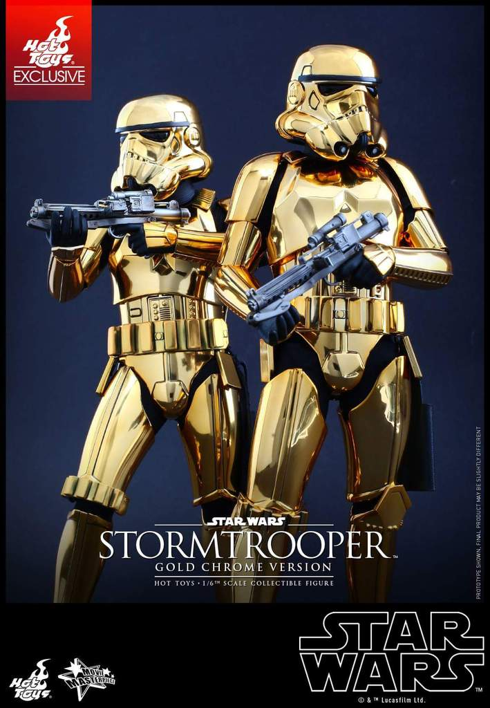 Hot Toys Star Wars 1/6 Scale Gold Stormtrooper Figure Fb_img35