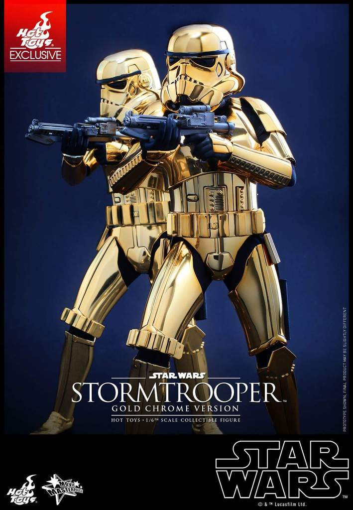 Hot Toys Star Wars 1/6 Scale Gold Stormtrooper Figure Fb_img36