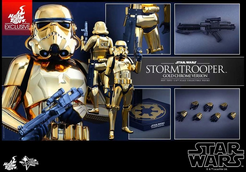 Hot Toys Star Wars 1/6 Scale Gold Stormtrooper Figure Fb_img38