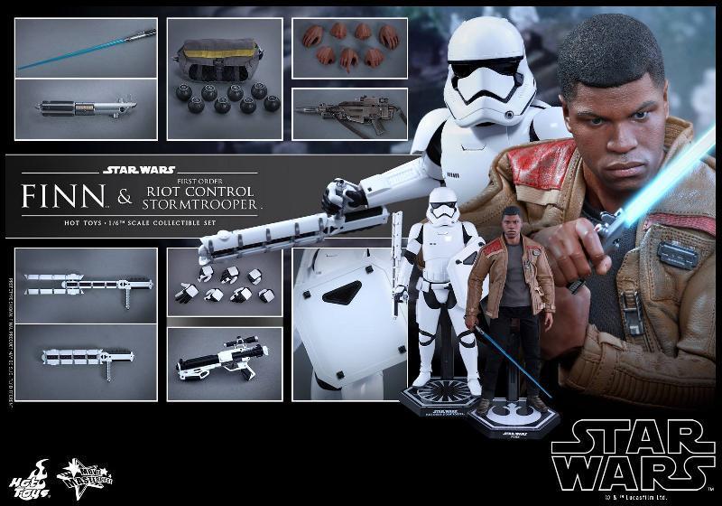 Star Wars: TFA Finn & First Order Riot Control Stormtrooper Finn-s23