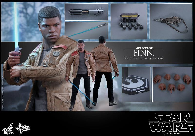 Hot Toys Star Wars: TFA 1/6th scale Finn Collectible Figure Finn1210