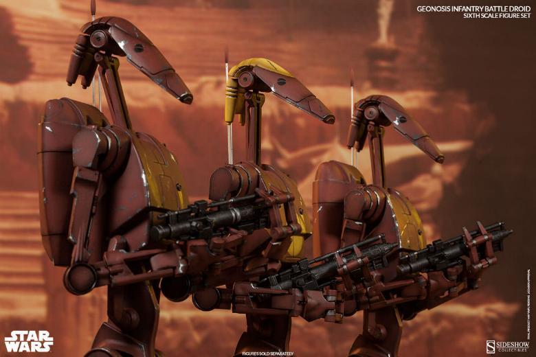 Sideshow - Geonosis Battle Droids Sixth Scale Figure Sets Geonos18