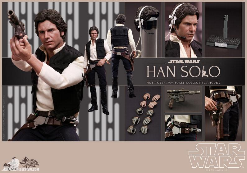 Hot Toys Star Wars IV 1/6th Han Solo Collectible Figure Han-so18