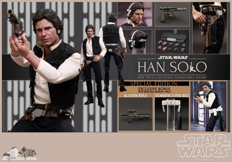 Hot Toys Star Wars IV 1/6th Han Solo Collectible Figure Han-so19