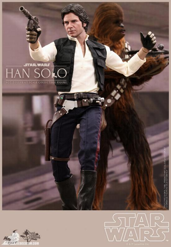 Hot Toys Star Wars IV 1/6th Han Solo Collectible Figure Han-so23