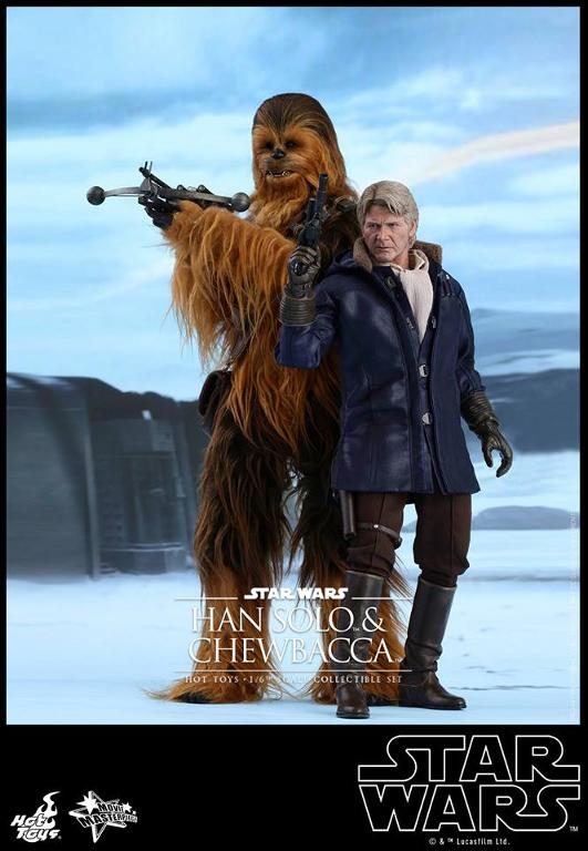 Hot Toys Star Wars: TFA - 1/6th scale Han Solo & Chewbacca Hanamp19