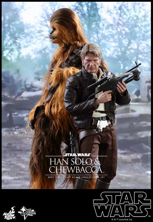 Hot Toys Star Wars: TFA - 1/6th scale Han Solo & Chewbacca Hanamp20