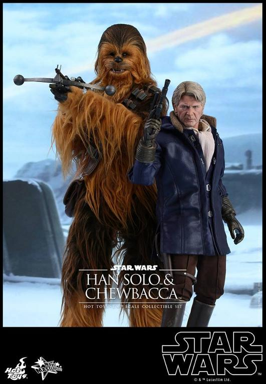 Hot Toys Star Wars: TFA - 1/6th scale Han Solo & Chewbacca Hanamp21