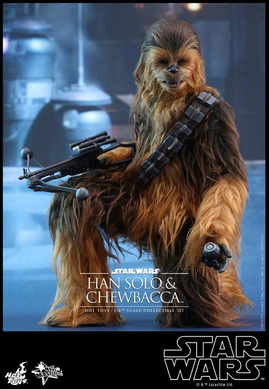 Hot Toys Star Wars: TFA - 1/6th scale Han Solo & Chewbacca Hanamp22
