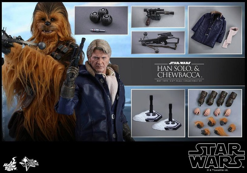 Hot Toys Star Wars: TFA - 1/6th scale Han Solo & Chewbacca Hanamp24