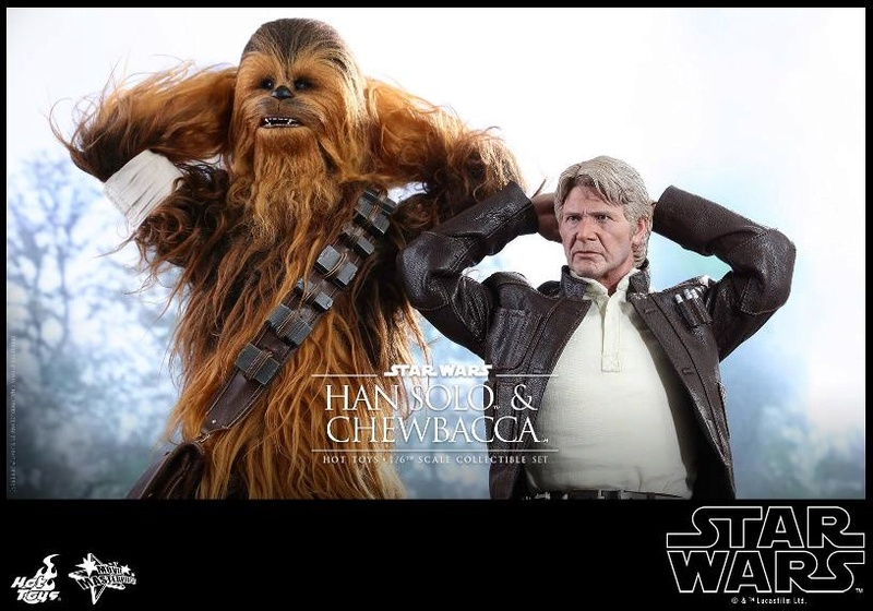 Hot Toys Star Wars: TFA - 1/6th scale Han Solo & Chewbacca Hanamp25