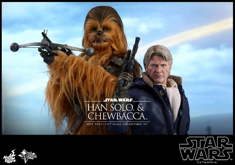 Hot Toys Star Wars: TFA - 1/6th scale Han Solo & Chewbacca Hanamp26
