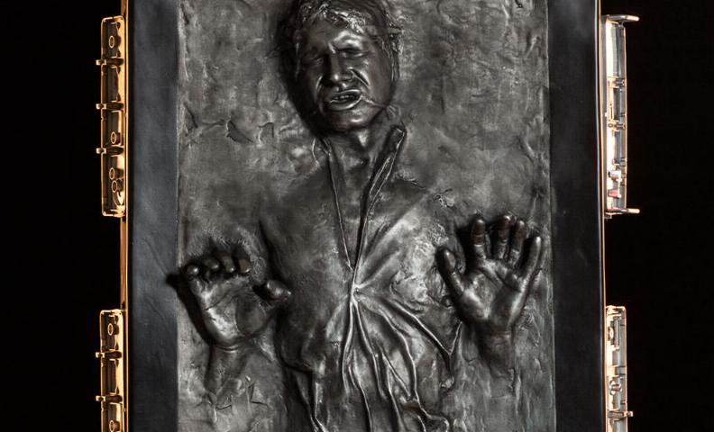 Sideshow - Han solo in Carbonite - Life Size Figure Hanlif11
