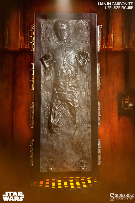 Sideshow - Han solo in Carbonite - Life Size Figure Hanlif12