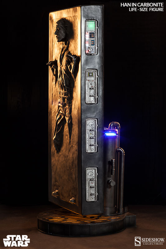 Sideshow - Han solo in Carbonite - Life Size Figure Hanlif15