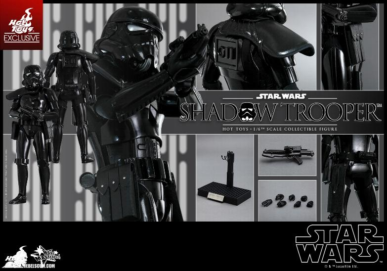 Hot Toys Star Wars - 1/6th Scale Shadow Trooper Figure Hot-to24