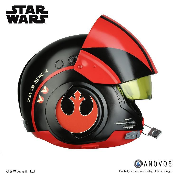ANOVOS - STAR WARS Poe Dameron Black Squadron Helmet  Poe_da11