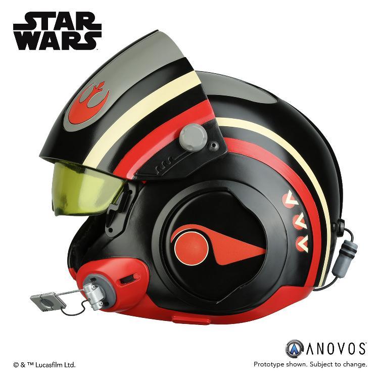 ANOVOS - STAR WARS Poe Dameron Black Squadron Helmet  Poe_da13