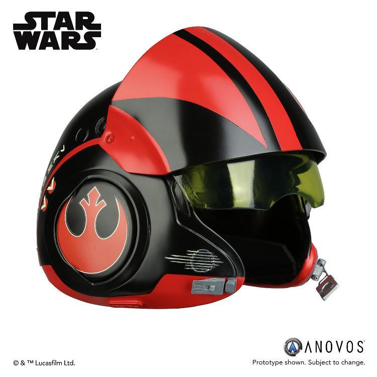 ANOVOS - STAR WARS Poe Dameron Black Squadron Helmet  Poe_da14