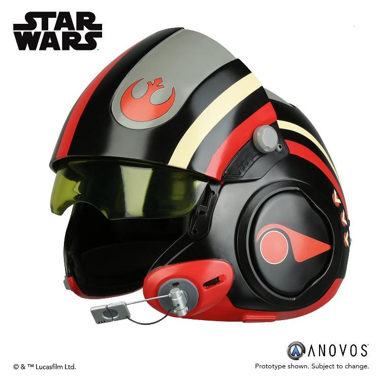 ANOVOS - STAR WARS Poe Dameron Black Squadron Helmet  Poe_da15