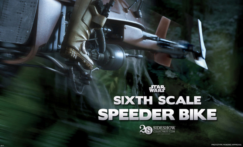 Sideshow - Scout Trooper & Speeder Bike Sixth Scale Figure Previe11