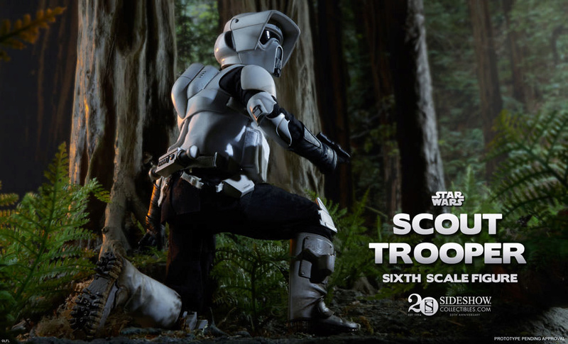 Sideshow - Scout Trooper & Speeder Bike Sixth Scale Figure Previe12