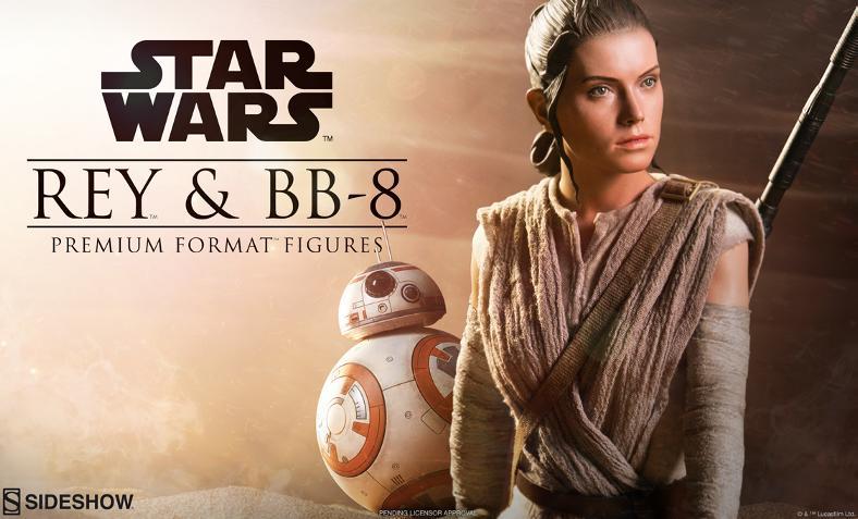 Sideshow Collectibles -Rey & BB-8 Premium Format Figure  Rey_bb10