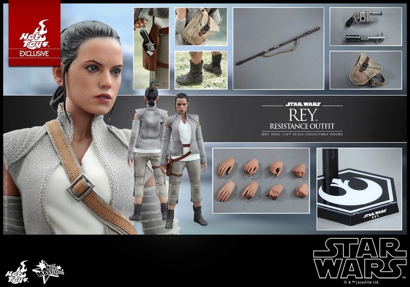 Hot Toys - TFA Rey Resistance Outfit 1/6th Scale Figure Reyres23