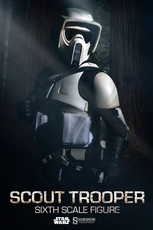Sideshow - Scout Trooper & Speeder Bike Sixth Scale Figure Scout011