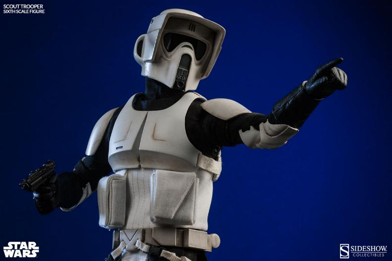 Sideshow - Scout Trooper & Speeder Bike Sixth Scale Figure Scout012