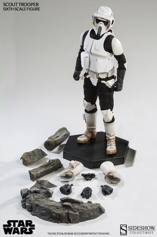 Sideshow - Scout Trooper & Speeder Bike Sixth Scale Figure Scout112